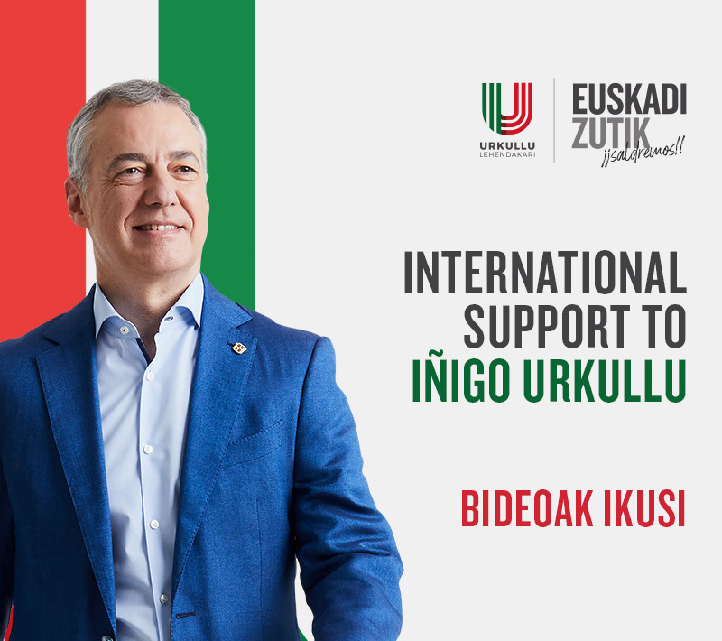 International Support to Iñigo Urkullu