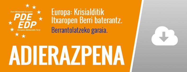 ADIERAZPENA - Europa: Krisialditik Itxaropen Berri baterantz. Berrantolatzeko garaia.