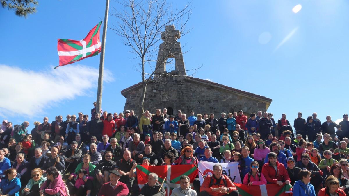Ortuzar llama desde Bizkargi a todos los vascos y vascas a celebrar mañana el Aberri Eguna