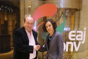 EAJ-PNV y Podemos Euskadi se reúnen en Sabin Etxea