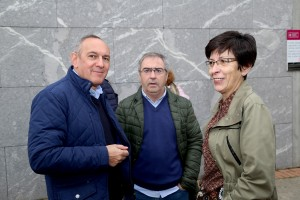 Ramiro Gónzalez, Joseba Aurrekoetxea eta Estefanía Beltrán de Heredia
