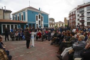 Presentación candidatura Getxo. Imanol Landa, Amaia Agirre, Itxaso Atutxa