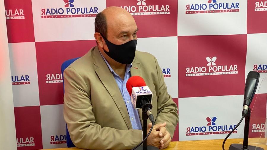 """Ortuzar: """"Herri honen ordezkaritza politikoaren gehiengo batek autogobernuaz hitz egin nahi du: hitz egin beharko da"""""""