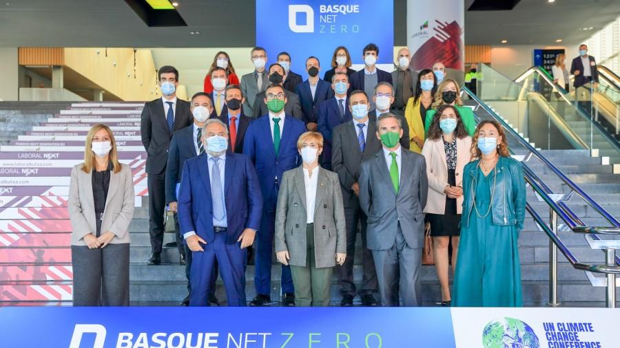 La industria de Euskadi se compromete a alcanzar cero emisiones netas y se unirá en la COP26 de Glasgow a la Alianza Global WEF
